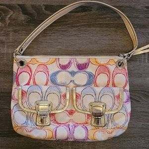 Coach Pastel Signature Monogram Purse